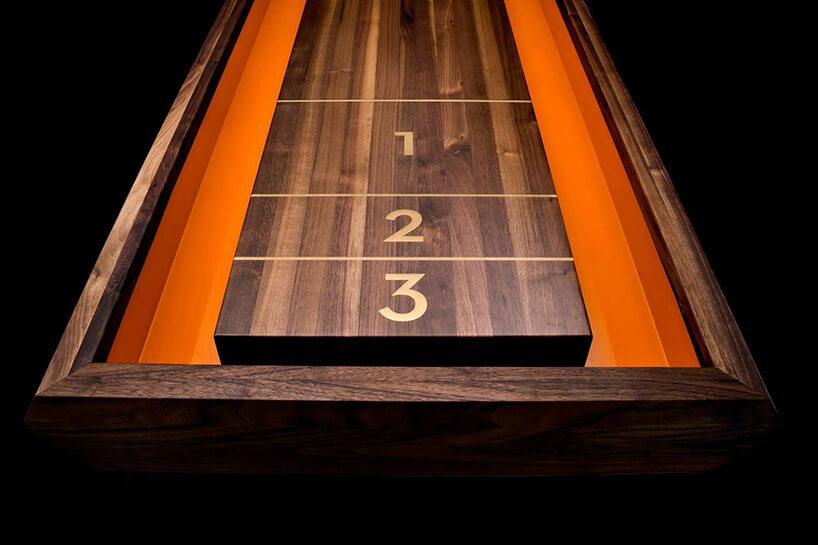 ekskluzywny stół do gry wshuffleboard