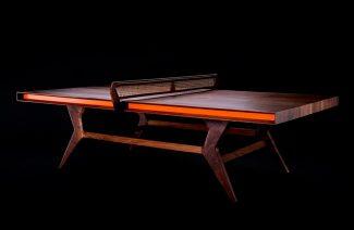 ekskluzywny stół z orzechowca do ping-ponga