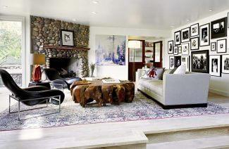przestronne wnętrze w salonie