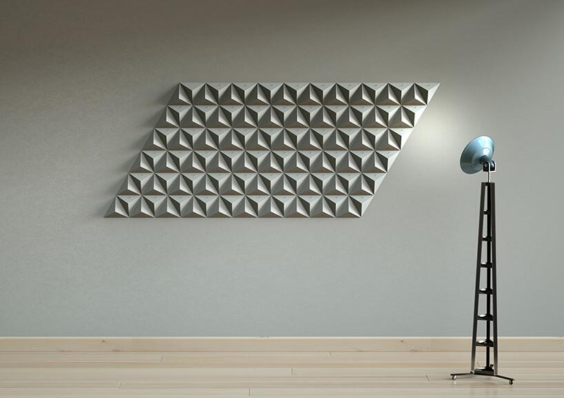 płytki 3D na ścianie