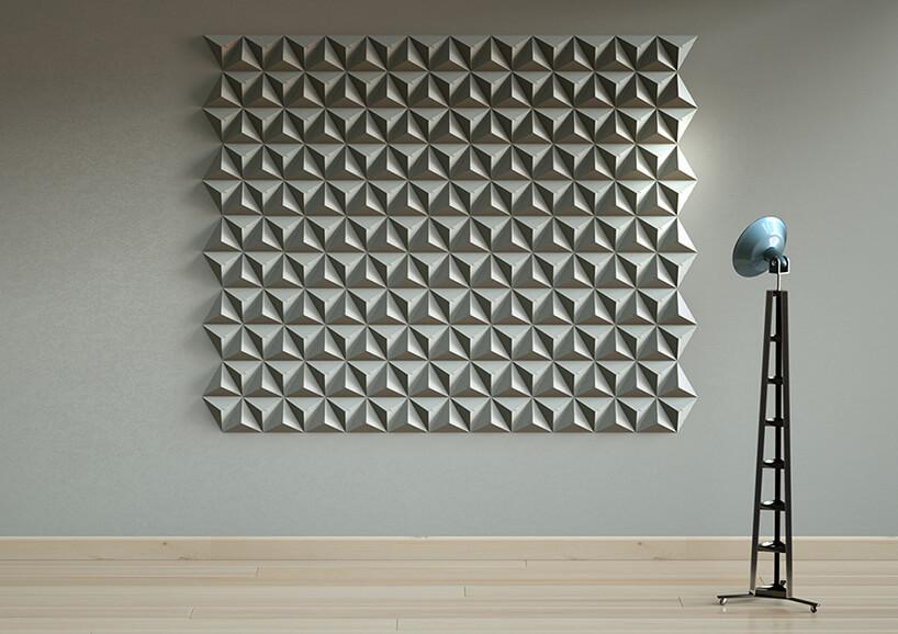 płytki betonowe na ścianie