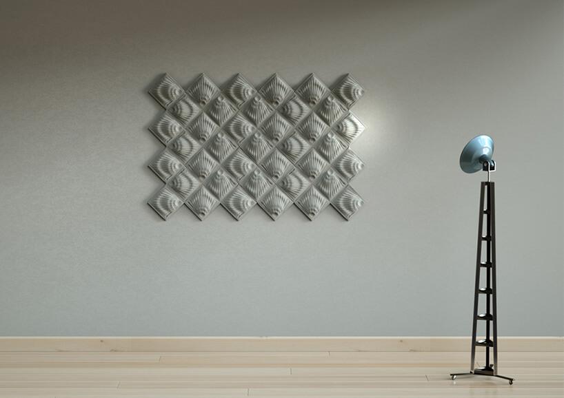 betonowe trójkątne płytki 3D