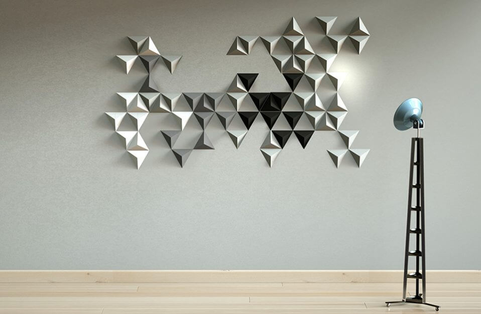 trójkolorowe płytki 3D
