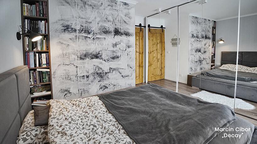 wyjątkowa ściana wsypialnie na wyróżnionym projekcie Glamory 2019