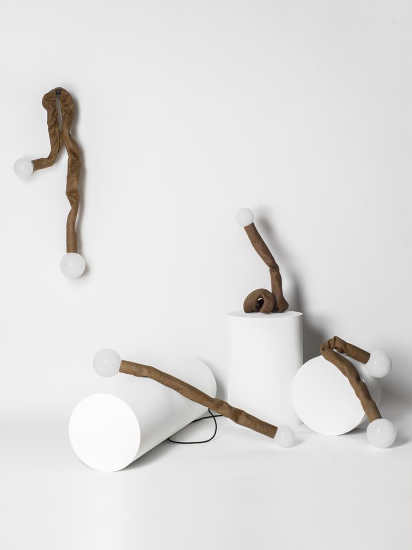cztery wyjątkowe brązowe lampy Senila od High Society
