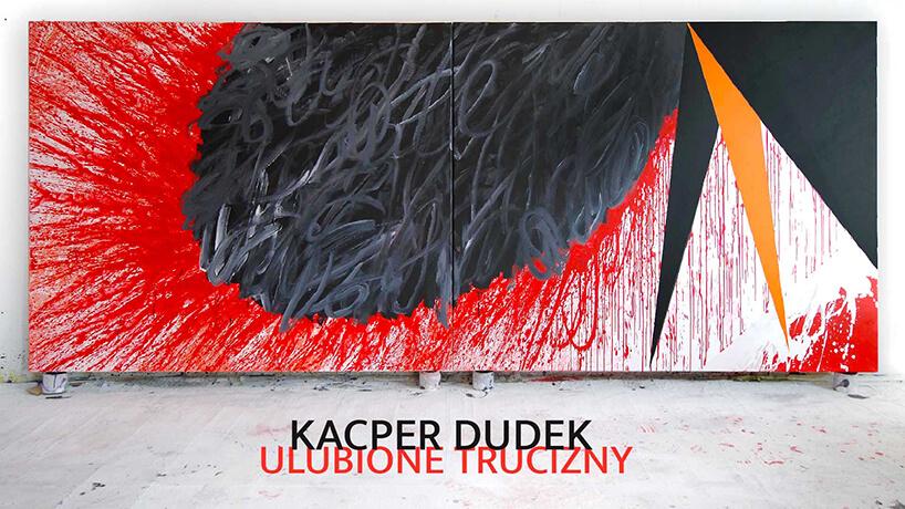 czarno czerwono biały obraz Kacpra Dudka
