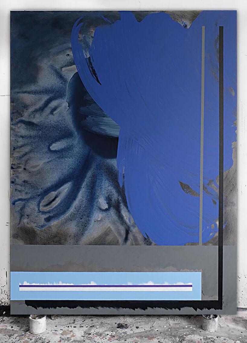 niebiesko szary obraz Kacpra Dudka