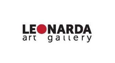 czarny logotyp Leonarda art gallery