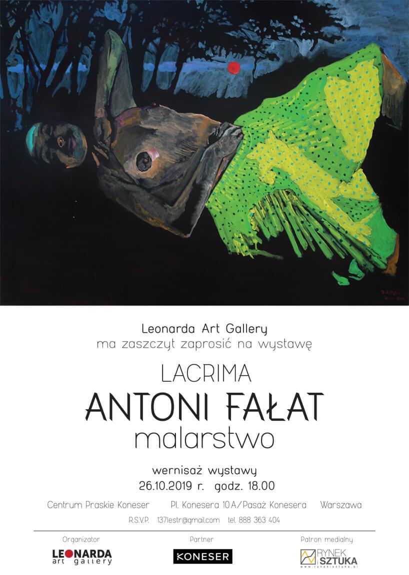 plakat wernisażu wystawy prac Antoniego Fałata