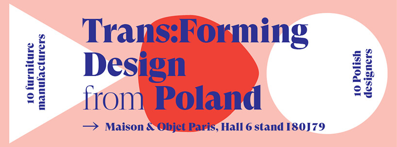 plakat wystawy Trans:Forming Design from Poland