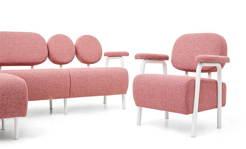 wyjątkowa różowa sofa Audrey od SO_FEM