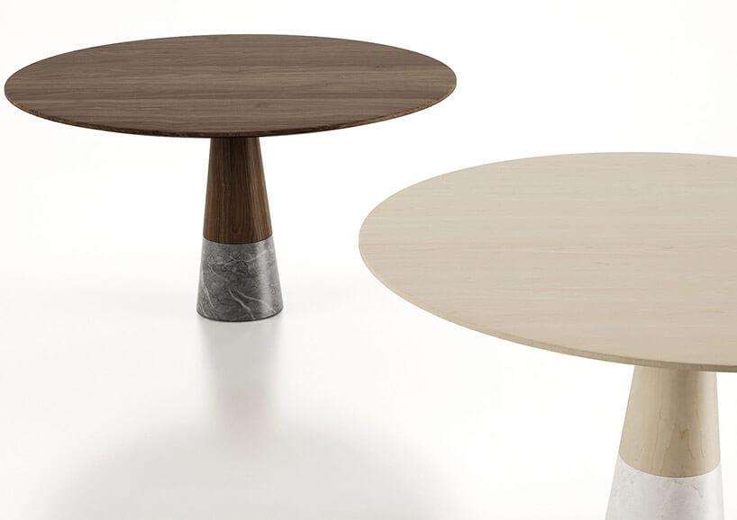 dwa stoły zdużym blatem