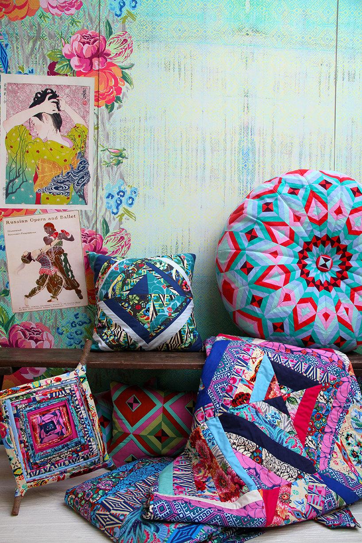 tekstylia wmocnych iwzorzystych kolorach