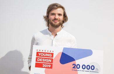 Tadeusz Ciechanowski laureat stypendium w konkursie Young Design 2019