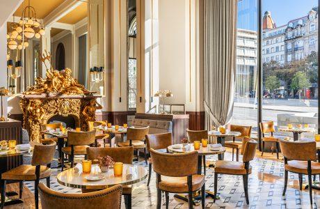 eleganckie glamour wnętrze hotelu Le Monumental Palace Porto od Maison Albar Hotels w Porto