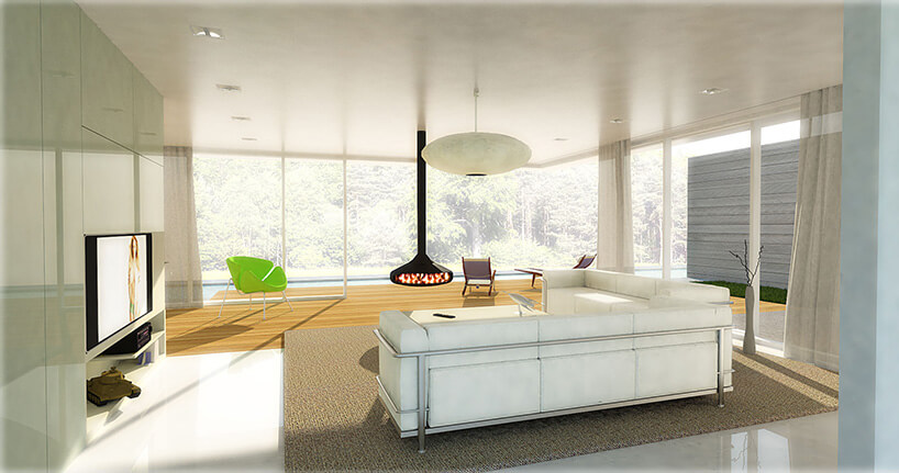 salon zbiałą kanapą