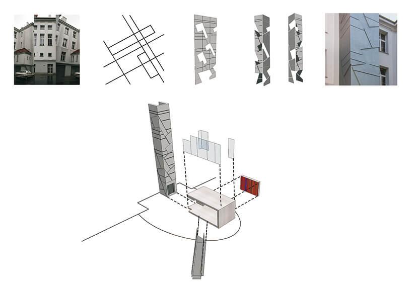 nietypowa szara architektura