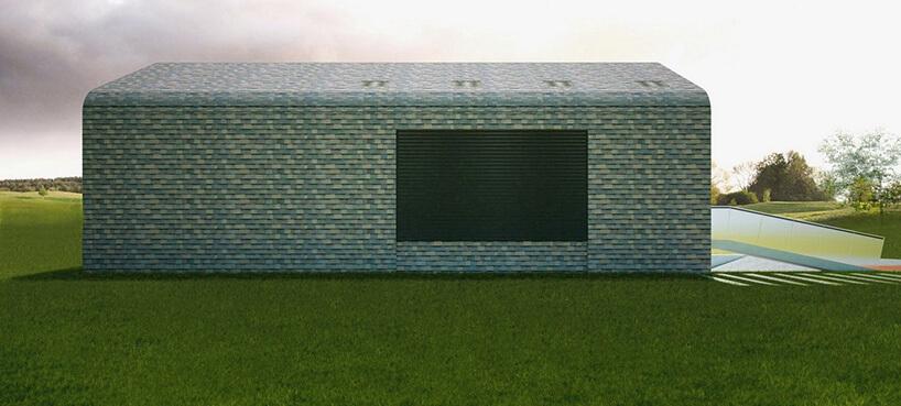 szaro zielona faktura na budynku