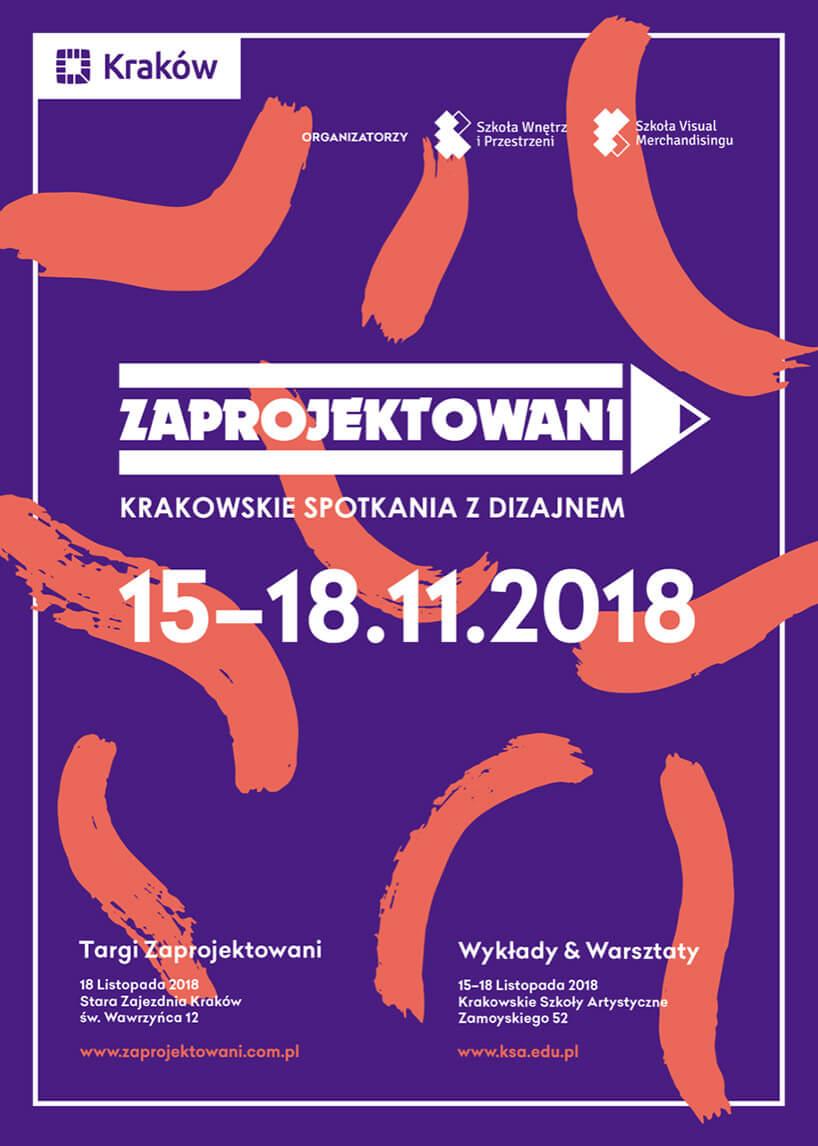 Zaprojektowani 2018 Krakowskie Spotkanie zDizajnem plakat