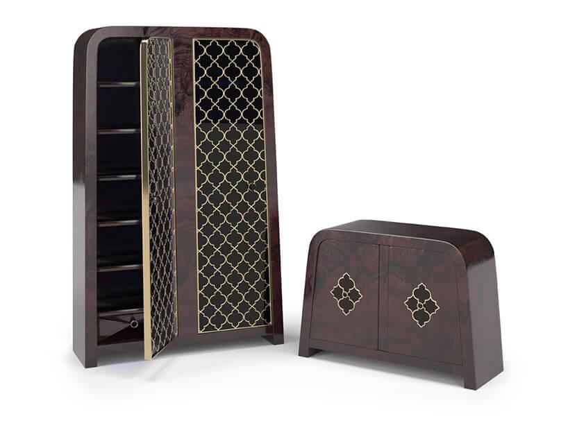 duża drewniana szafa imała szafka ciemno-brązowa