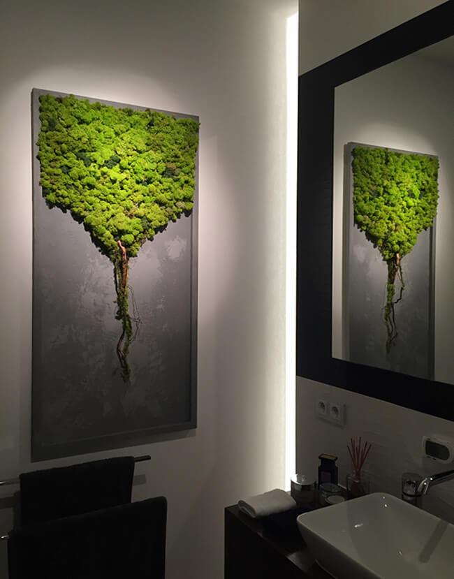 Chrobotek Reniferowy Na ścianie I Obraz Z Mchu Magazifcom
