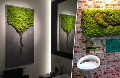 kompozycje zielonych ścian greenalleys