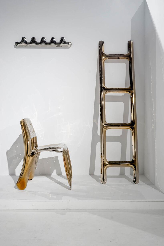 krzesło idrabina wykonane zmiedzi