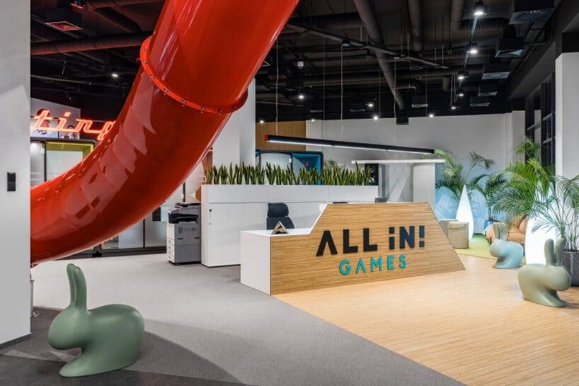 Zjeżdżalnia wbiurze – nowy element przestrzeni biurowej