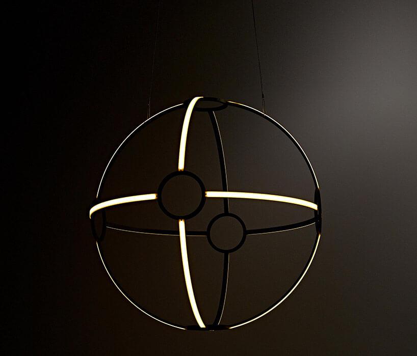 panelowe oświetlenie wformie kuli