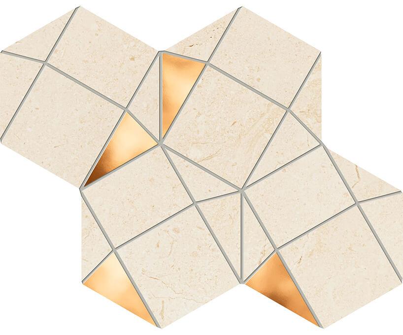 beżowo-złota mozaika Plain Stone od Ceramika Tubądzin