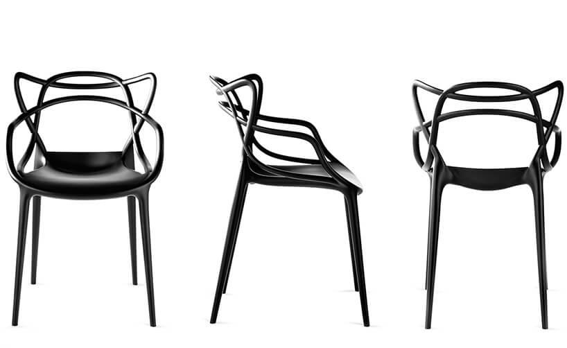 krzesło master wczarnym połysku
