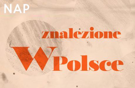 plakat konkursu NAP Znalezione w Polsce