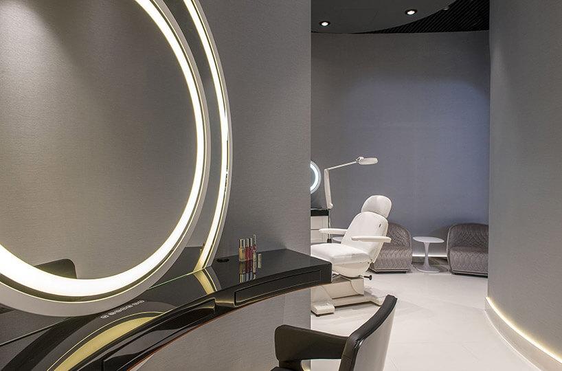 wizualizacja nowoczesnego wnętrza salonu kosmetycznego
