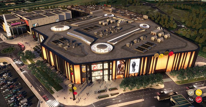 projekt nowoczesnego centrum handlowego wKrakowie